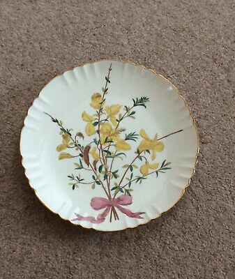 """Vintage Minton Wall/cabinet Plate With Flower Bouquet - 8.1/2""""  • 32£"""