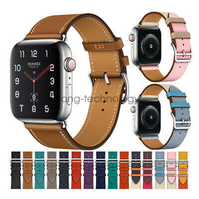 AU9.99 • Buy Genuine Leather Single Tour Watch Band Strap For Apple Watch 6 5 4 3 38/42 40/44