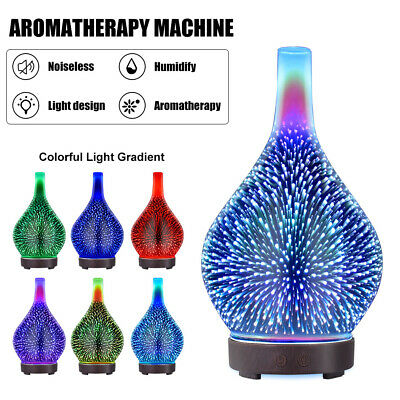 AU28.99 • Buy Electric Air Diffuser Aroma Oil Humidifier Night Light Up Home Relax LED Defuser