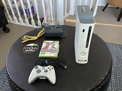 AU20 • Buy Microsoft Xbox 360 Condole 60GB With One Controller Snd 2 Games 🔥🔥🔥