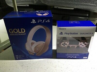AU0.99 • Buy PS4 Rose Gold Controller & Headset BNIB.
