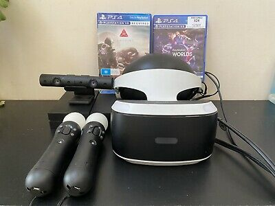 AU299.95 • Buy PS4 VR Headset SONY Playstation 4 PSVR V1 Virtual Reality+ Camera+ Move +Games