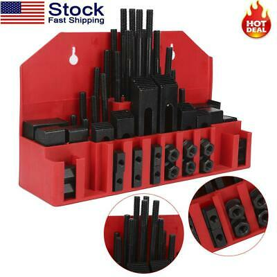 $64.80 • Buy 7/16  T Slot Clamp Set 58 Pcs 3/8-16 Stud Hold Down Clamping Machine Mill Drill
