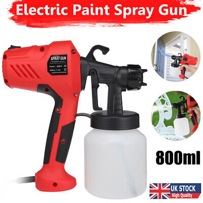 £26.59 • Buy 400W Electric Paint Spray Gun DIY Sprayer HVLP For Painting Fence Decking Walls