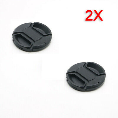 AU3.85 • Buy 2X  49mm Lens Cap Center Pinch Snap On Front Cover String For Canon Nikon Sony