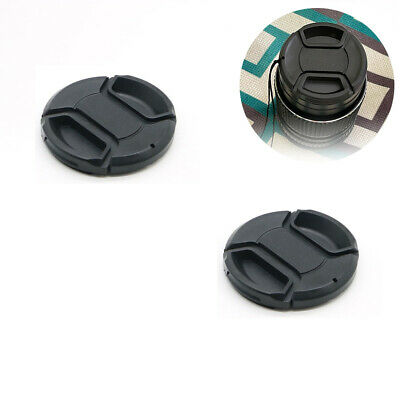 AU3.98 • Buy 2X 52mm Center Pinch Snap On Front Lens Cap Cover For Canon Nikon Sony String