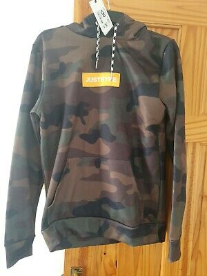 Just Hype Camouflage Hoodie Size M #47 • 14.99£