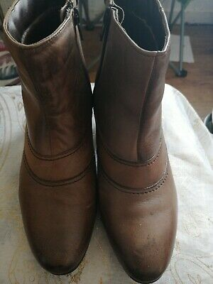 🎀Tan Leather Ankle Boots By Pavers In Size 5 In Vgc • 6.99£