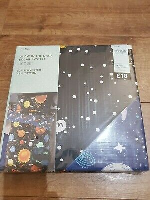 £18 • Buy Next Boys Planet Duvet Cover And Pillowcase Set Glow TODDLER NEW WITH TAGS
