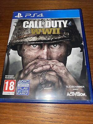Call Of Duty World War II PlayStation 4 PS4 Game • 1.25£