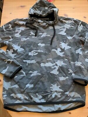Indicate Hoody Grey Camouflage Jumper XL • 10£
