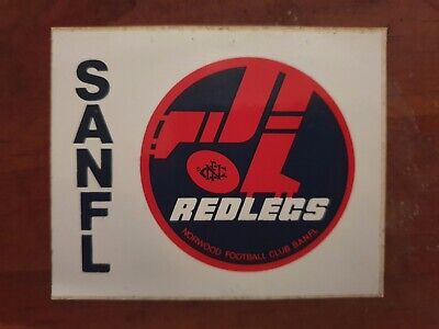AU19.99 • Buy SANFL Norwood Redlegs Sticker 80's
