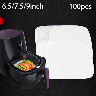 100 Sheets Air Fryer Liners Perforated Baking Paper Pans Non-Stick Steaming • 8.19£