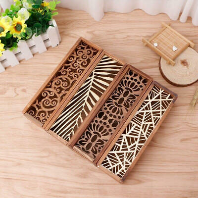 £3.89 • Buy Retro Wooden Hollow-carved Pen Pencil Case Stationery Beads Wooden Storage Box