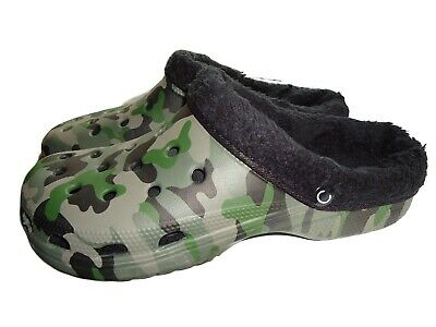 $ CDN34.60 • Buy Mens Warm Camouflage Camping Fishing Shoes Slippers Camo Clogs With Fur Lining