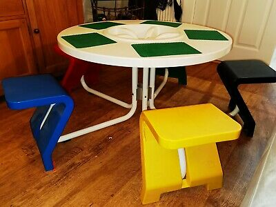£250 • Buy 5 Seat Children's Official Lego / Duplo Play Table Chairs Baseplates **Rare**