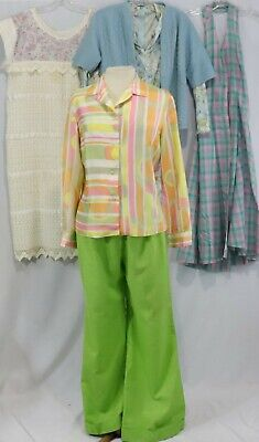 AU35.71 • Buy 14 Pc Vintage 60s 70s Clothing Lot Shirt Top Dress Sweater