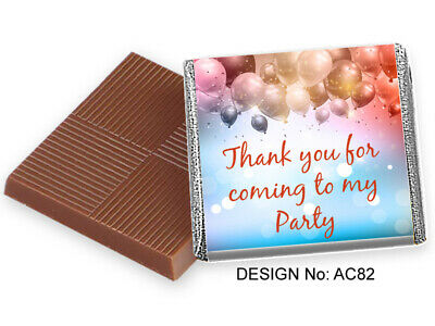 £10.99 • Buy 50 Chocolate Birthday Party Favours, Personalised Or Add Your Own Photo / Design