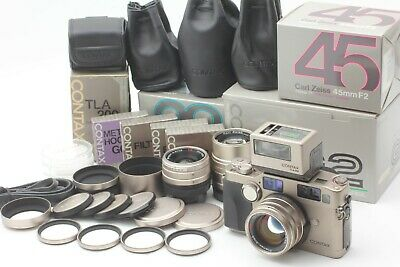 $ CDN3627.48 • Buy [ Almost UNUSED BOX ] Contax G2 + Zeiss 28mm 45mm 90mm 3Lens + TLA200 From JAPAN