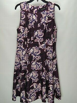$ CDN31.46 • Buy Ivanka Trump Fit And Flare Dress Women's Size 12 Burgundy Floral