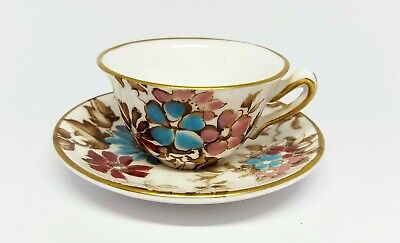 £14.95 • Buy Miniature Crown Staffordshire China Cup & Saucer, Floral Decoration