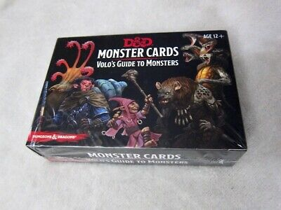 AU15.30 • Buy NWT D+D MONSTER CARDS - VOLO'S GUIDE To MONSTERS - Dungeons & Dragons Spellcards