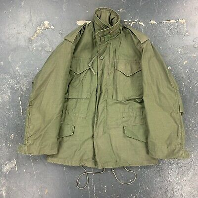 $50 • Buy 80s Small Short US Army M65 Field Jacket OG107 1983 Defense Personnel