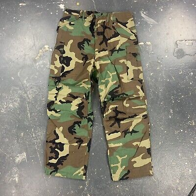 $50 • Buy US GI M65 Cold Weather Field Trousers Pants Woodland Camo Size Large Regular