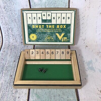 £7.99 • Buy Shut The Box Dice Game By Very Playthings Interesting VIP Travel Size