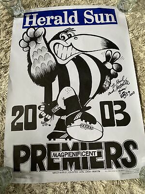 AU1200 • Buy Vintage Rare Weg 2003 Collingwood Loosing Premiers Poster Afl Football Signed