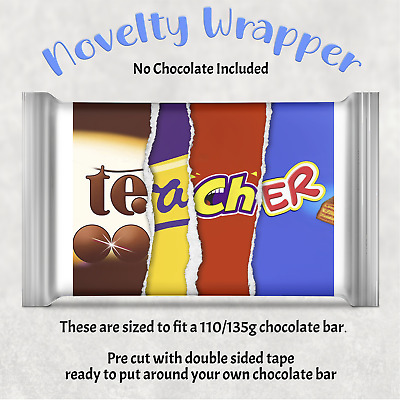 £1.89 • Buy Teacher Chocolate Bar Wrapper Novelty Gift Teaching Assistant Awesome Special