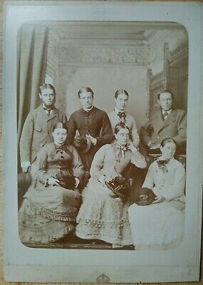 £9.99 • Buy Victorian Cabinet Card Family Portrait By Lambert Weston & Son Dover