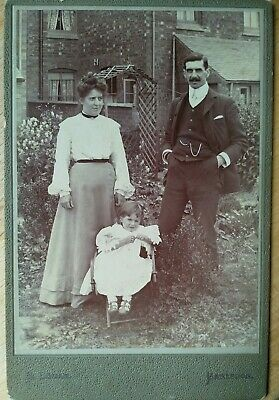 £9.99 • Buy Cabinet Card Family Portraits Outside House B Lomax Earlesdon Coventry