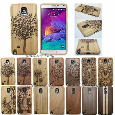 AU23.14 • Buy Natural Carved Wood Bamboo Case Back Cover For Samsung Galaxy Note 5 S7 Edge/S8