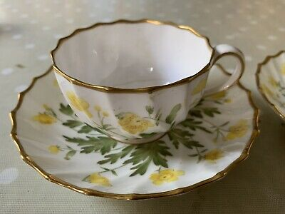 Two COPELANDS Bone China Antique Victorian Buttercup Tea Cup And Saucers. • 12£