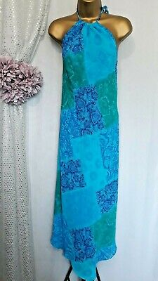 £12 • Buy Principles,turquoise Halter Neck ,calf Length Holiday Dress,s18/38