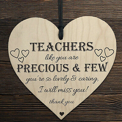 £2.89 • Buy Teachers Are Precious Wooden Hanging Heart Shabby Chic Thank You Plaque Gift