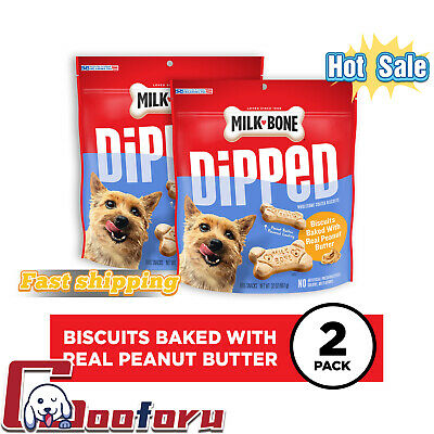 $25.99 • Buy 🐶Milk-Bone🐶Dipped Dog Biscuits Baked With Real Peanut Butter, 32 Oz, 2 Bags