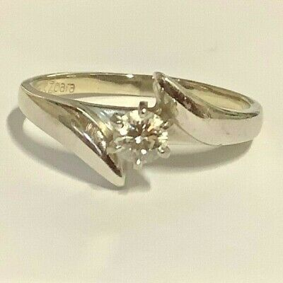 AU375 • Buy Solitaire Diamond White Gold Ring 14