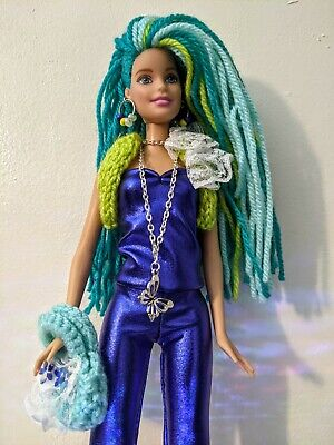 Custom Barbie W/ Brand New Wooly Hair, Outfit And Accessories - OOAK • 9.99£