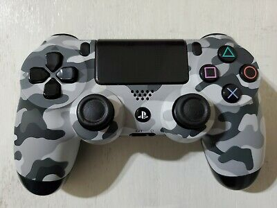 AU45.95 • Buy Sony PS4 Controller Black/White/Grey Camo PS4 Wireless Controller