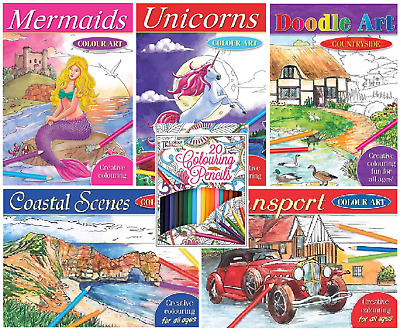£4.49 • Buy Mind Relaxing Adult Colouring Books Colour Therapy Stress Relief Pencils A4 Book