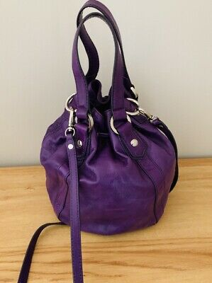 AU71 • Buy Oroton Small Leather Bucket Bag In Violet