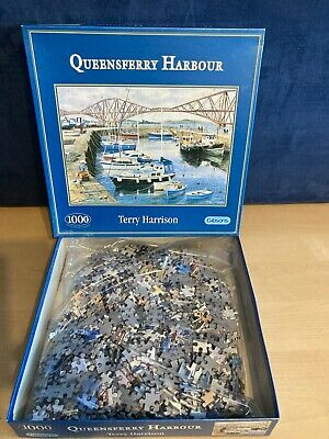 £16.99 • Buy Gibsons Terry Harrison Queensferry Harbour 1000 Piece Jigsaw Puzzle Resealed