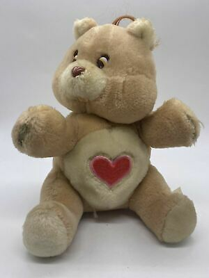 £16.99 • Buy Authentic 1980's Care Bear Tenderheart Brown Soft Toy Bear Backpack - No Straps