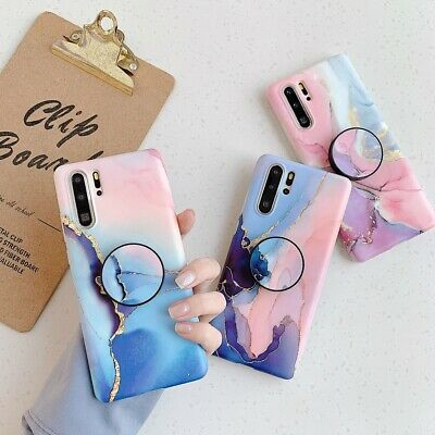 £4.89 • Buy Watercolor Marble Soft Case Cover For Huawei P30 Pro P20 Lite Socket Holder