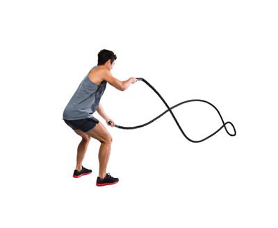 AU77 • Buy NEW Heavy Duty 9m Battle Rope Home Gym Muscle Strength Training Exercise Workout