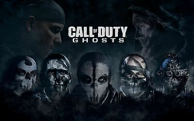 £20 • Buy Call Of Duty Ghost Canvas Wall Art Picture 20x30 Inches Ready To Hang