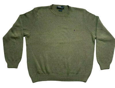 $24.99 • Buy VTG 90s Polo Ralph Lauren Mens Sweater Crew Neck Pullover Size XL Military Green