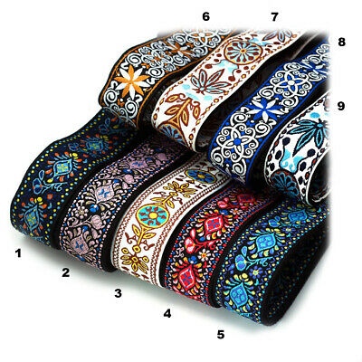 $ CDN12.81 • Buy Guitar Strap Embroidery Woven Stunning Designs Vintage Style